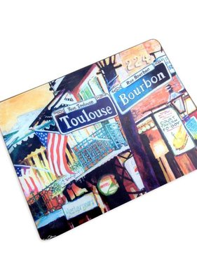 Tempered Glass Cutting Board, French Quarter