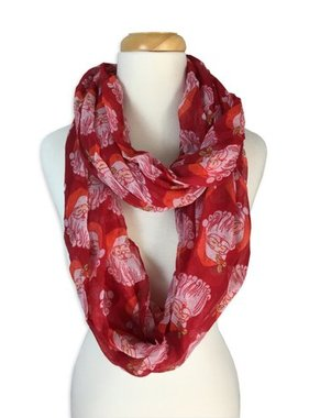 Red Santa Infinity Scarf