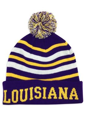 Hat, Louisiana Purple & Gold Knit Cap