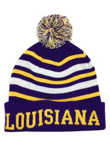 Louisiana Purple & Gold Knit Cap