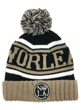 Hat, NOLA Black & Gold Knit Cap