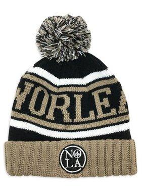 Hat, NOLA Black & Gold Knit Cap