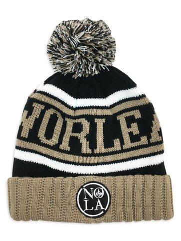 NOLA Black & Gold Knit Cap