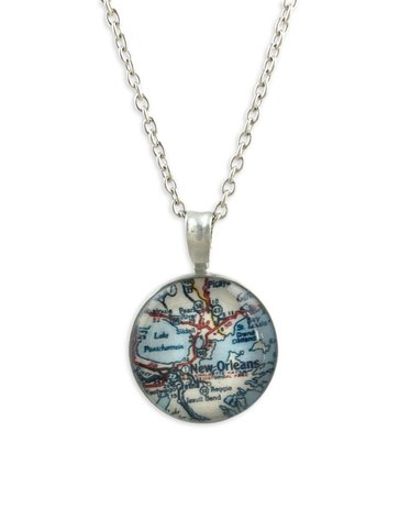 New Orleans Map Necklace