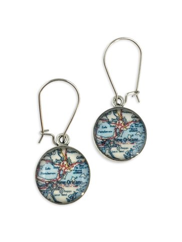 New Orleans Map Earrings