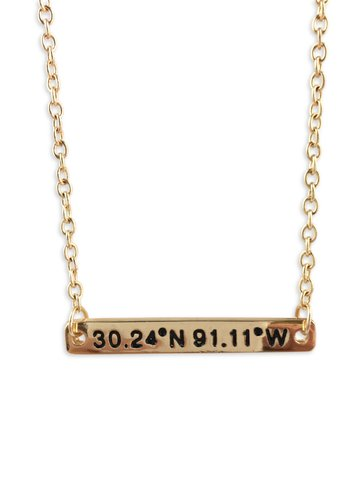 LSU Stadium Coordinates Necklace