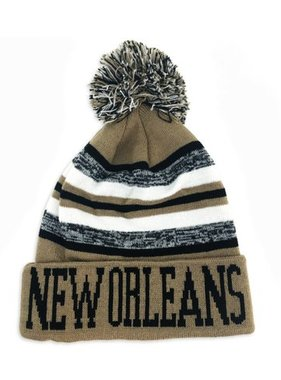 Hat, New Orleans Black & Gold