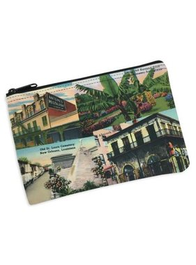 Cosmetic Bag, New Orleans Collage