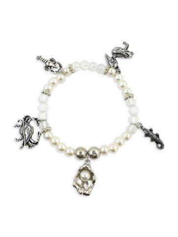 Louisiana 5 Charm Bracelet
