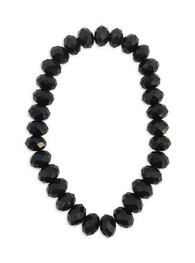 Bracelet, Black Crystal Stretch Bracelet