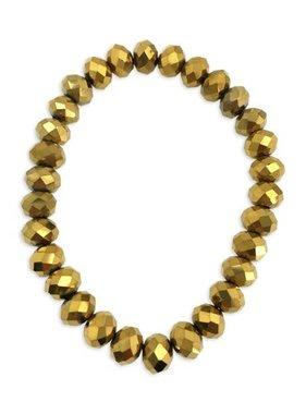 Bracelet, Gold Crystal Stretch Bracelet