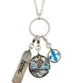 New Orleans Pewter Charm Map Necklace