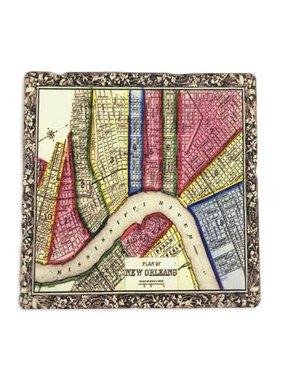 Gift, Preservation Tile Coaster, Map 4x4