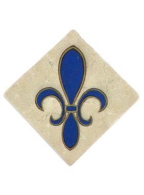 Fleur de Lis Coaster, 4x4