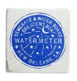 Water Meter Tile Coaster, 6x6