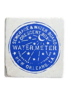 Gift, Preservation Tile Coaster, Water Meter 6x6
