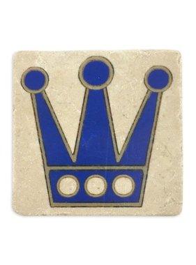 Gift, Preservation Tile Coaster, Blue Crown 4x4