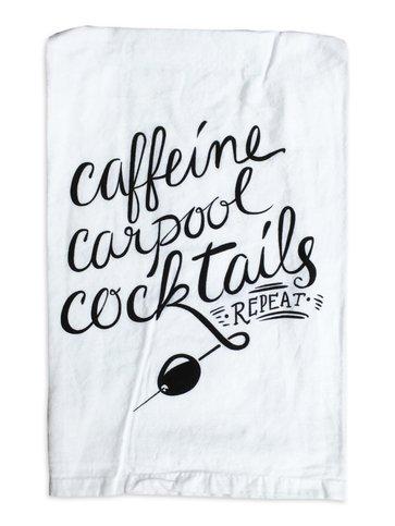 Primitives by Kathy Caffeine, Carpool, Cocktails Towel