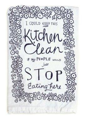 Primitives by Kathy Keep Kitchen Clean Tea Towel