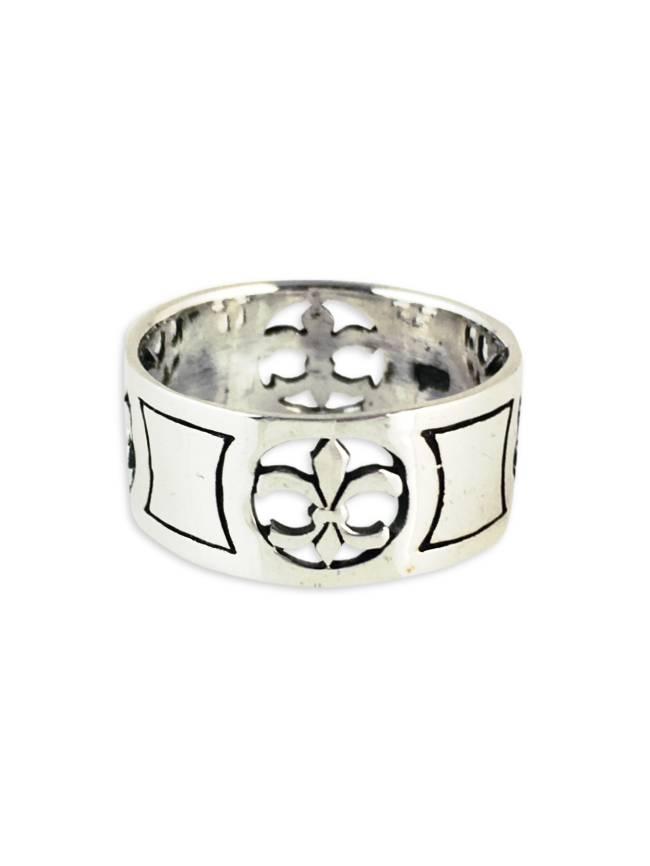 Sterling Silver Cutout Fleur de Lis Ring