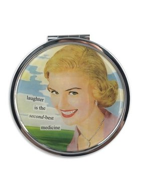 Second-Best Medicine Pill Box Compact by Anne Taintor