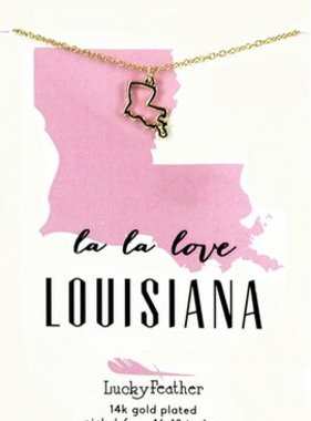 La La Love Louisiana Charm Necklace