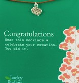 Congratulations Leaf Charm Necklace