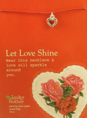 Let Love Shine Heart Charm Necklace