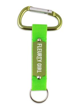 Key Chain, Fleurty Girl, Embossed