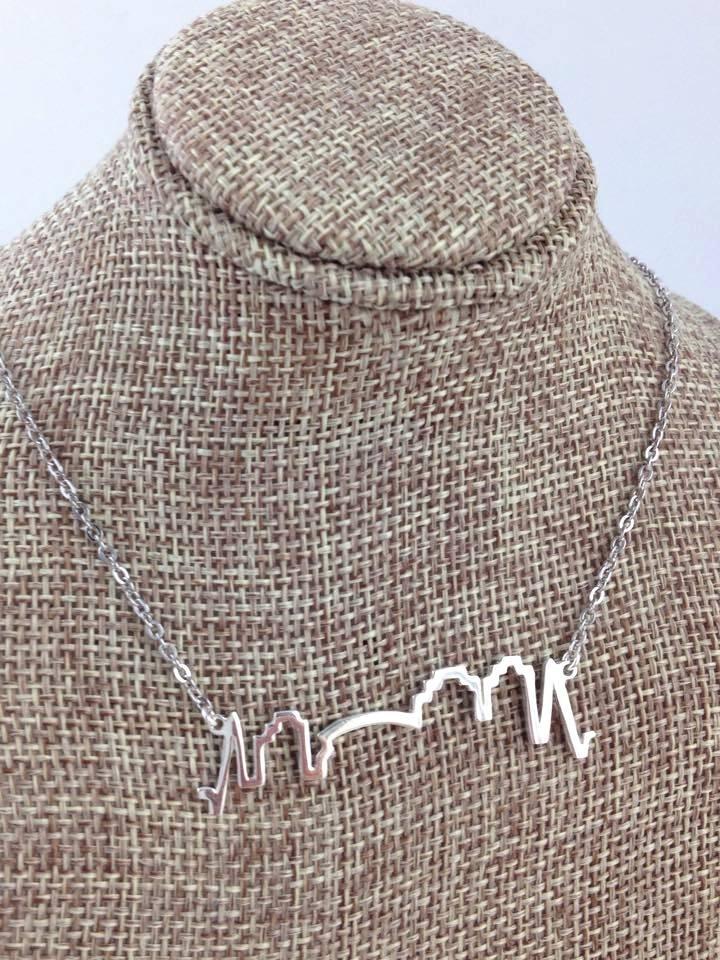NOLA Skyline Necklace by Sarah Ott, Silver
