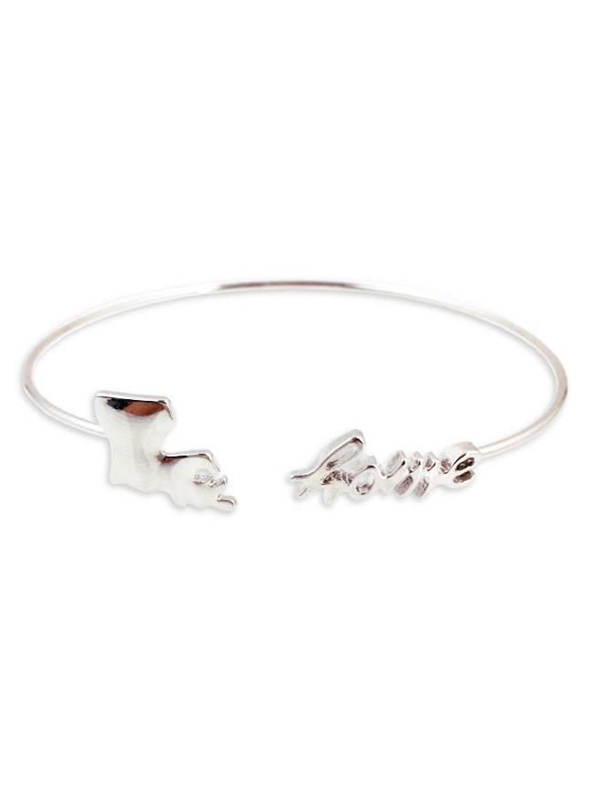 Louisiana Home Cuff Bracelet