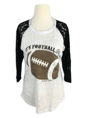 Football Y'all Lace Long Sleeve Tee