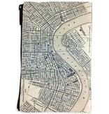 Vintage Nola Map Cosmetic Bag