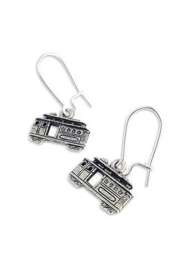 Streetcar Earrings, Silver