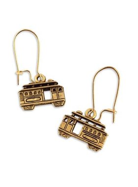 Streetcar Earrings, Gold