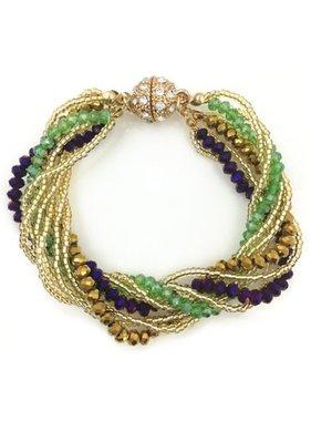 Mardi Gras Multi Strand Bracelet