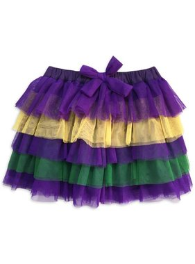 Mardi Gras Tulle Skirt For Kids & Babies