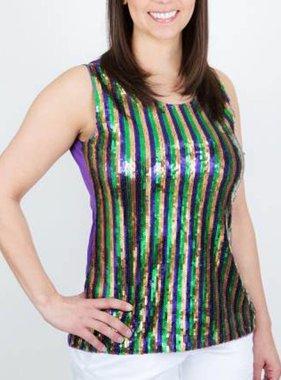 Mardi Gras, Sequin Top, Female