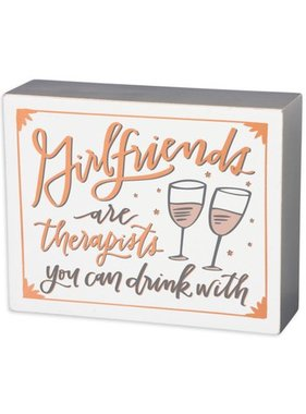 Girlfriends Box Sign