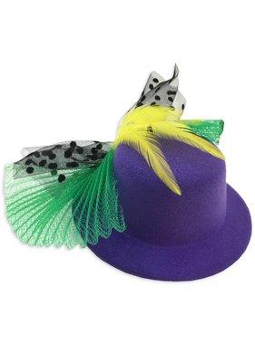 Mardi Gras Mini Hat