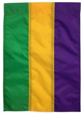 Mardi Gras Stripe Garden Flag