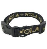 Black and Gold NOLA Pet Collar