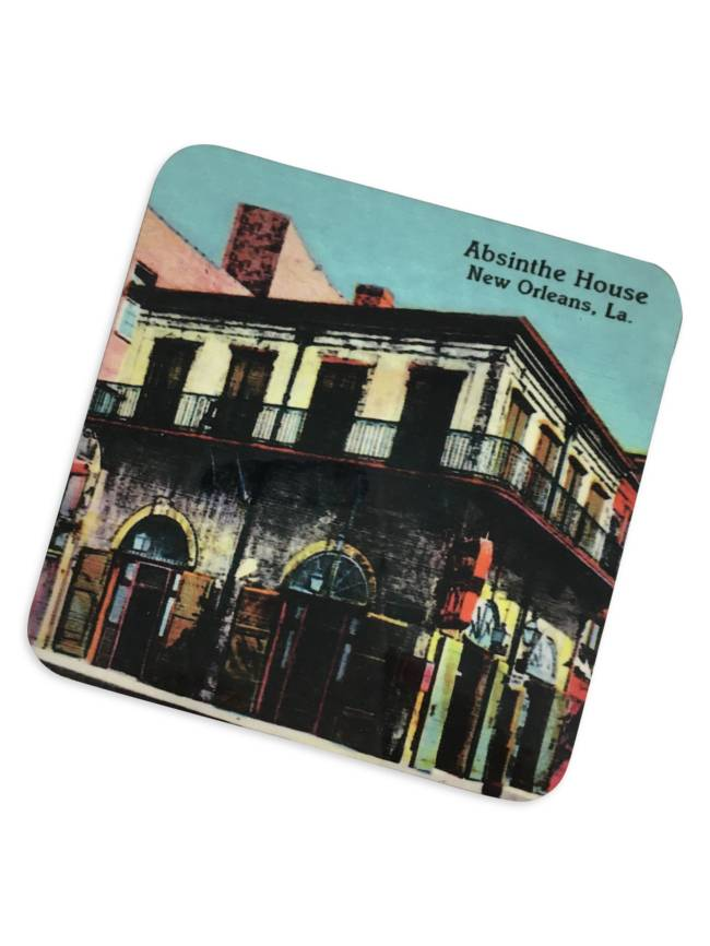 Absinthe House Cork Coaster