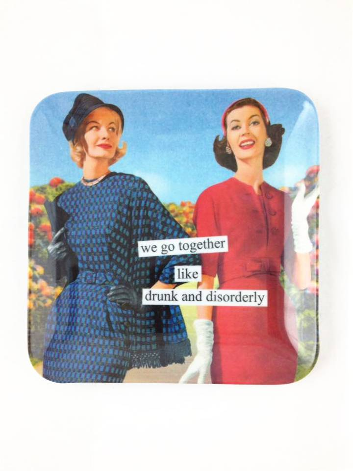 Anne Taintor Drunk And Disorderly Mini Tray