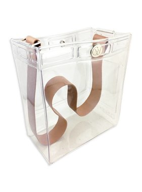 Clearware Classic Bag with Tan Leather Strap