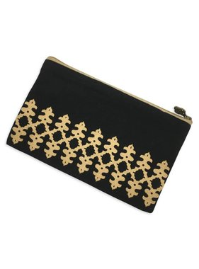 Black and Gold Glamour Cosmetic Bag