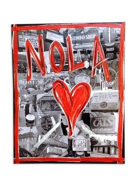 NOLA Heart Collage Canvas