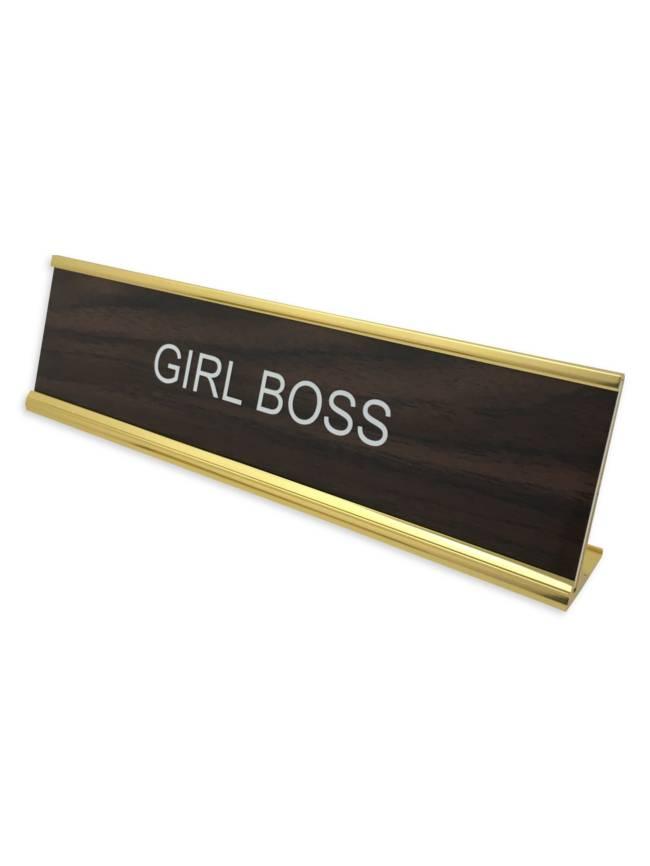 Girl Boss Office Desk Plate