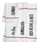 Nola Tawk Hand Stamped Towel, New Orleans Dishes Collection