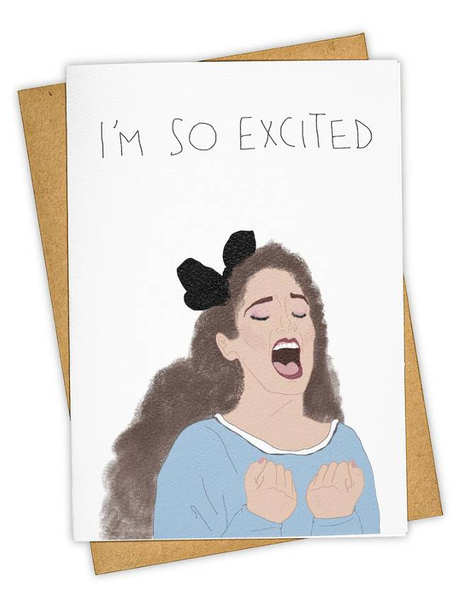 Greeting Card, I'm So Excited